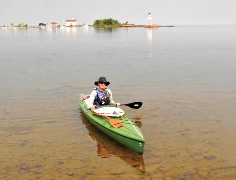 Stephen Brede on lake