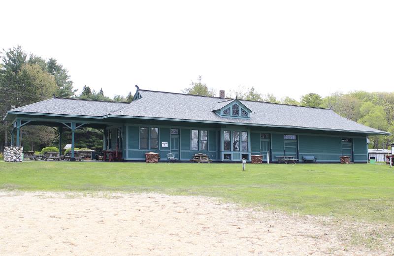 Pere Marquette Train Depot in Alden