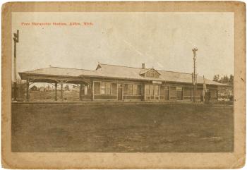Pere Marquette Train Depot postcard