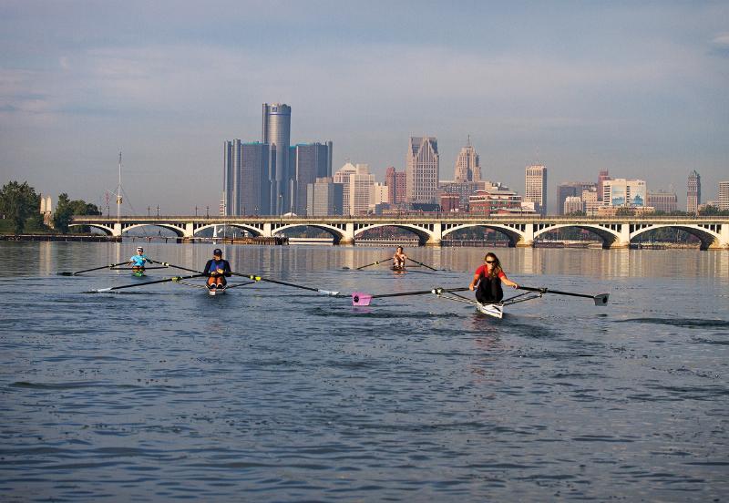 Detroit River rowing
