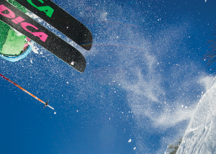 Skier Aaron Peterson