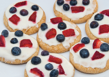 July 4th Spangled Cookies