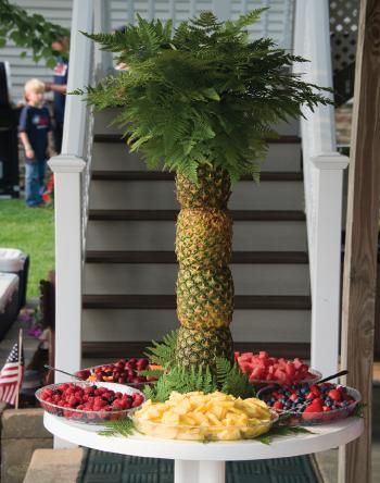Pineapple Palm Tree Fruit Platter