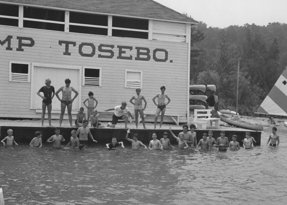 Campers Swimming at Camp Tosebo
