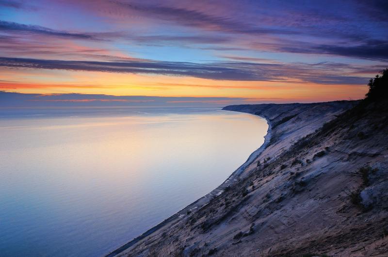 """Grand Sable Dunes Sunrise, Pictured Rocks National Lakeshore"""