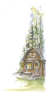 Cottage michigan blue fall
