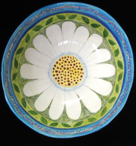 Louise Hopson's Daisy platter can be picked up at Art Cats Gallery