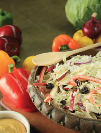 Creamy cabbage-and-apple slaw