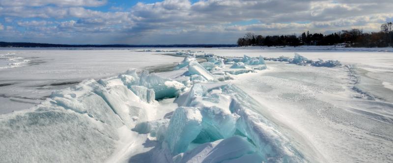 Blue Ice, Pressure Ridges and Ice Push