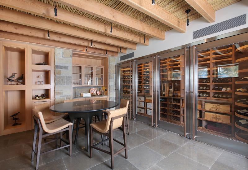 Contemporary reach-in wine cellar