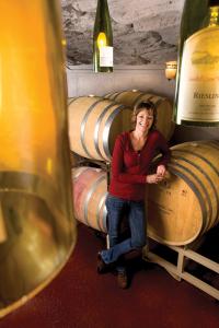 Holly Balansag at Sandhill Winery