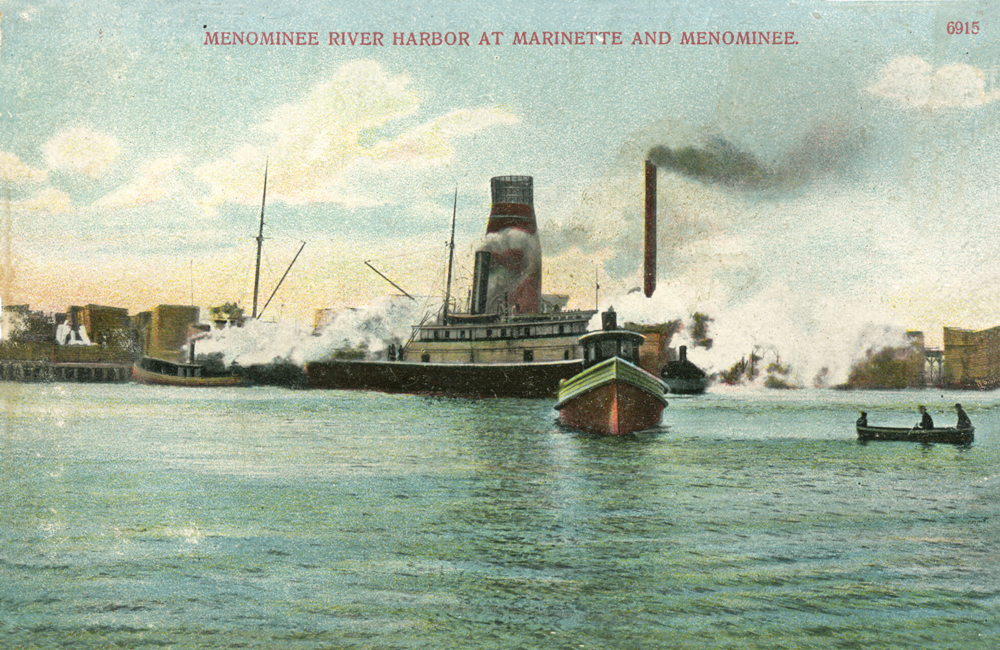 Menominee Historical Postcard