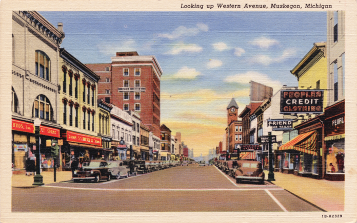 Muskegon Historical Postcard