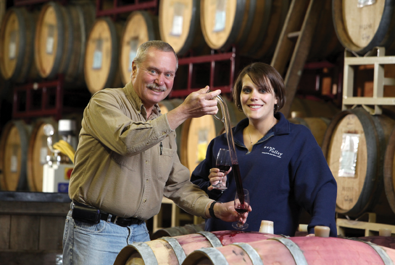 Winemakers Doug and Gwen Welsch