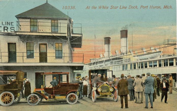 Port Huron Historical Postcard