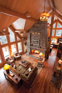 two-level vacation and retirement log home