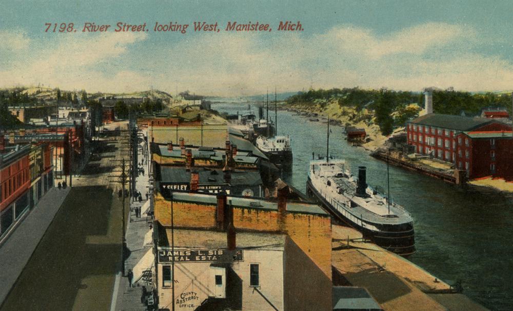 River Street Looking West Manistee Michigan