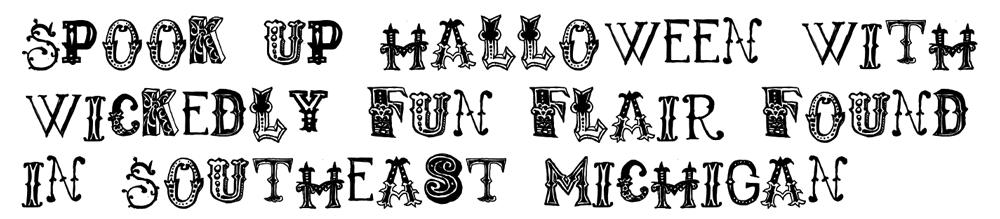 Tricky Halloween Headline Text