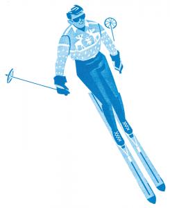 Vintage Male Skier