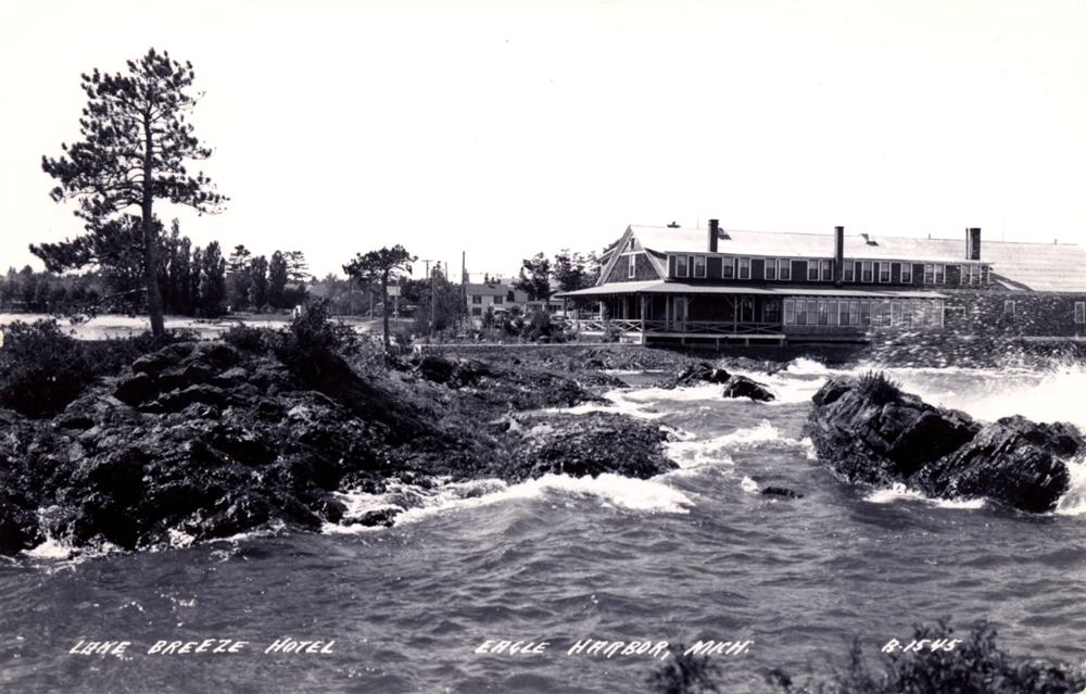 Lake Breeze Hotel in Eagle Harbor Michigan Courtesy Vintage Views