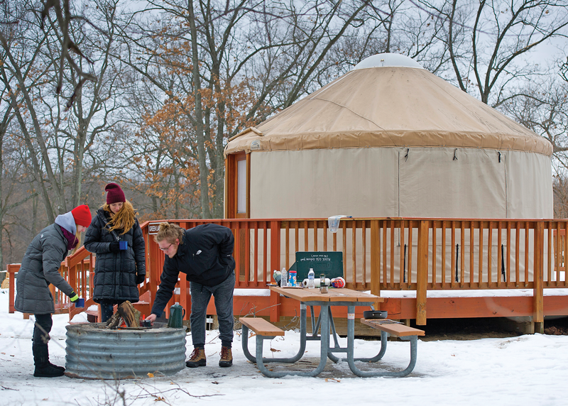 Winter Camping in Yurt