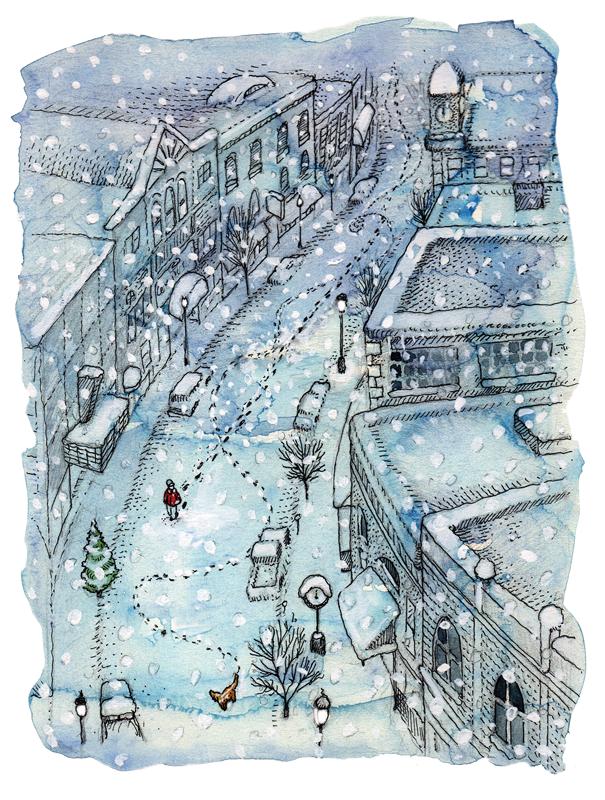 Winter Reflections illustration glenn wolff