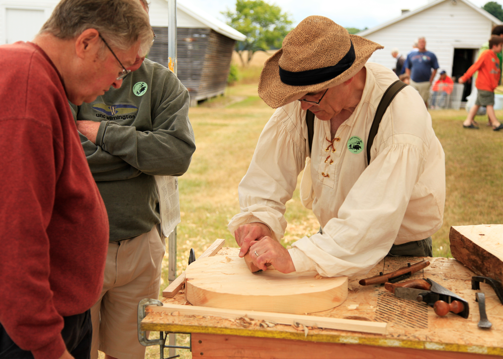 Wood Working at the Historical Fair