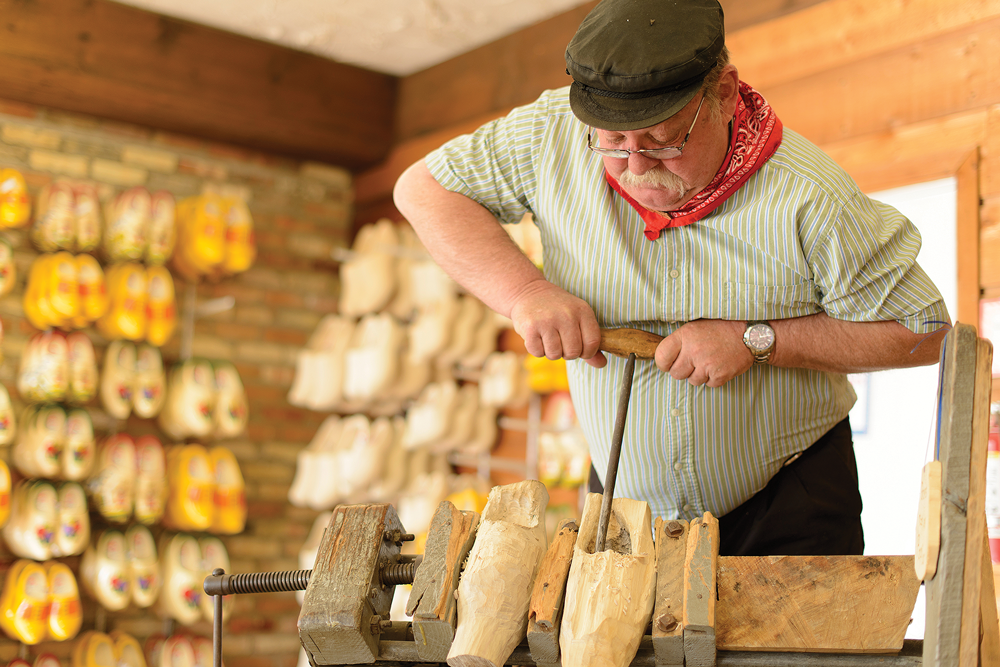 Wooden Shoe Carving at Dutch Village