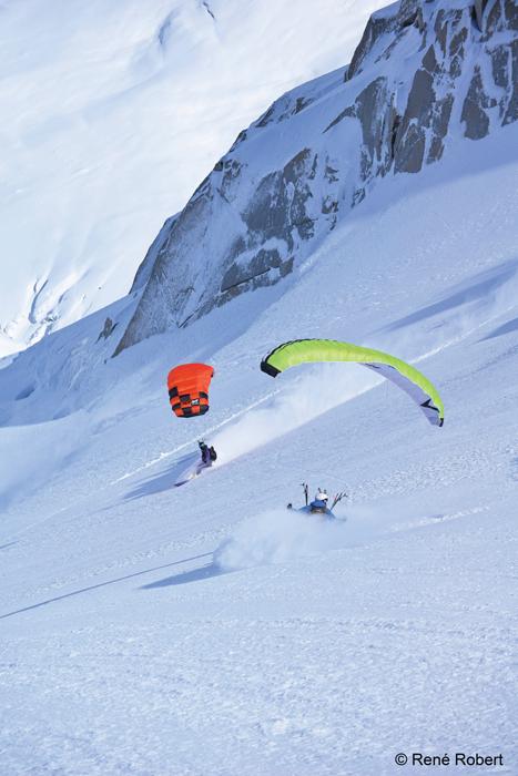 Ian provo parasailing down snowy mountain