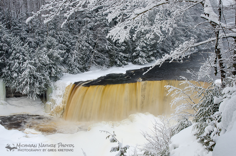 tahquamenon falls during winter