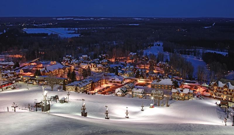 winter village lights