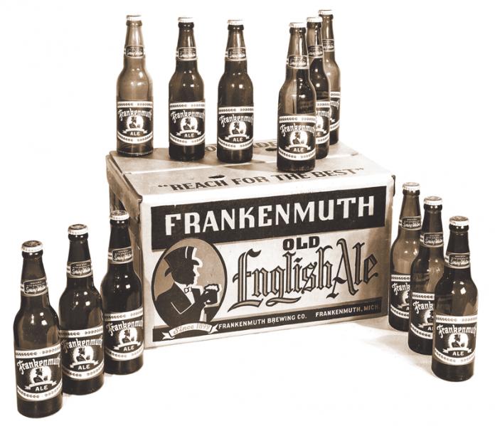 Frankenmuth Old English Vintage Beer Bottles