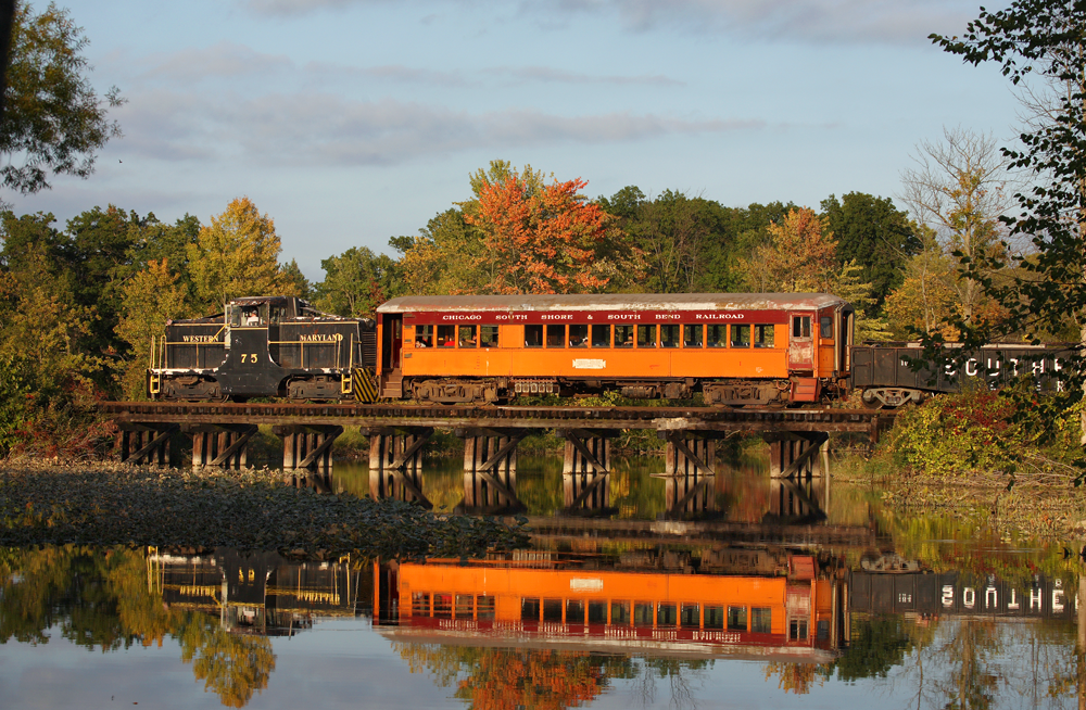 Fall ride on southern Michigan Railroad