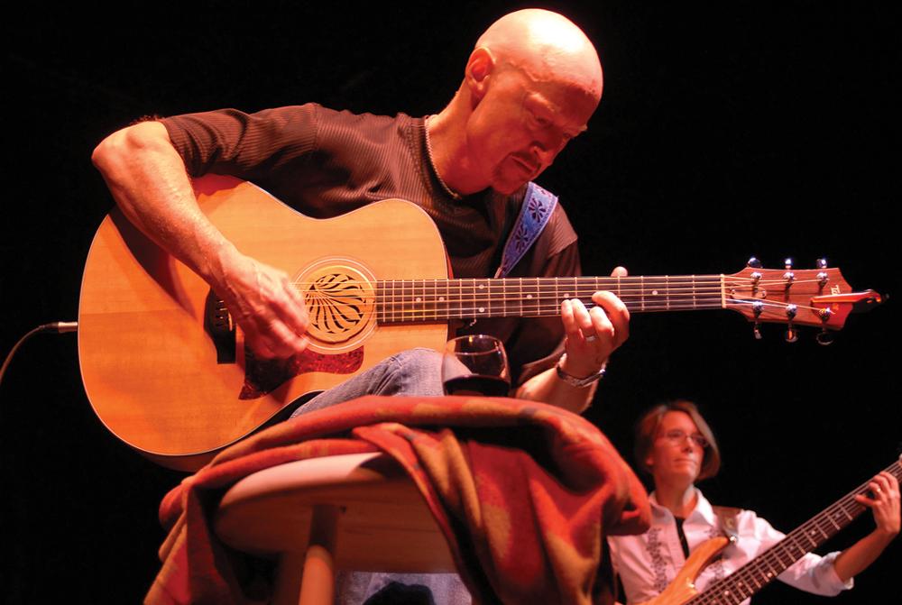 Thom Jayne Playing Guitar by M'Lynn Heartwell