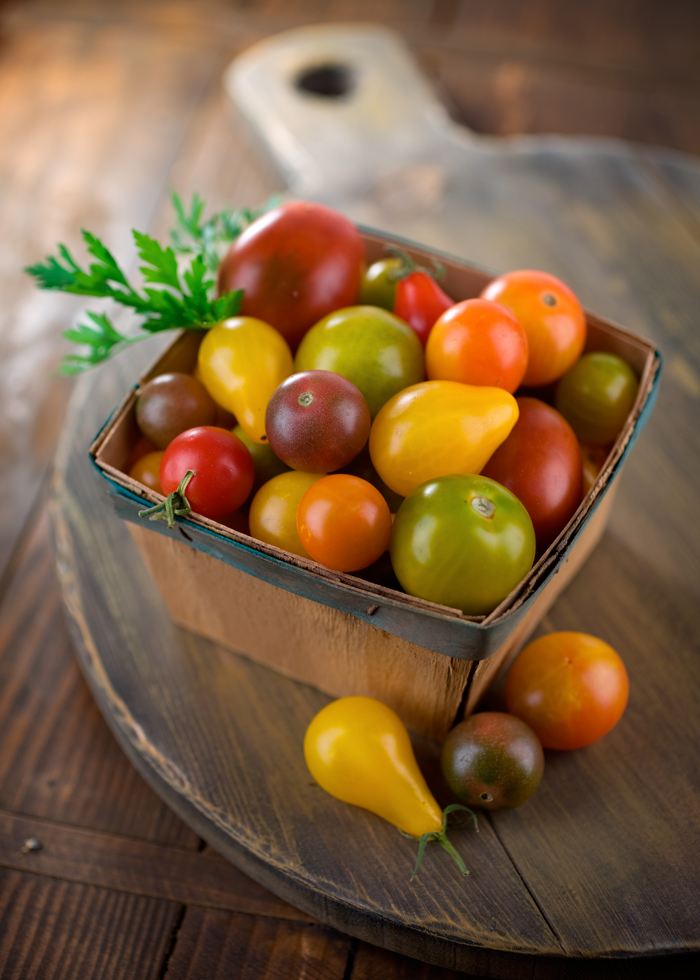 Assortment of heirloom tomatoes