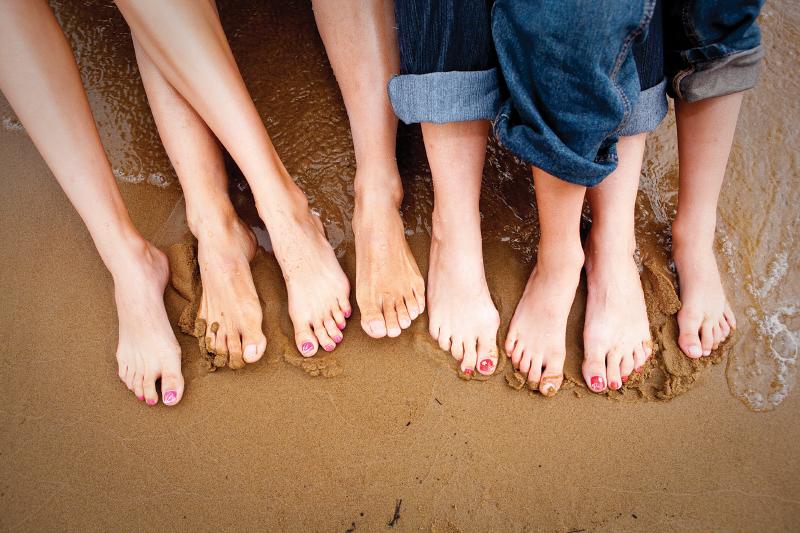 Tamarack - Feet in sand