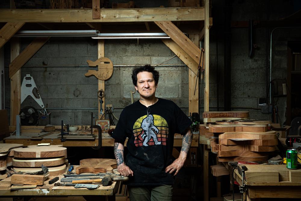 Gabriel Currie in workshop