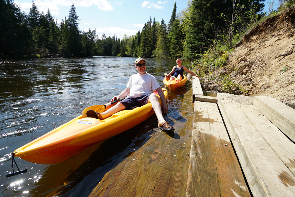 Paddlers and Anglers at Au Sable River