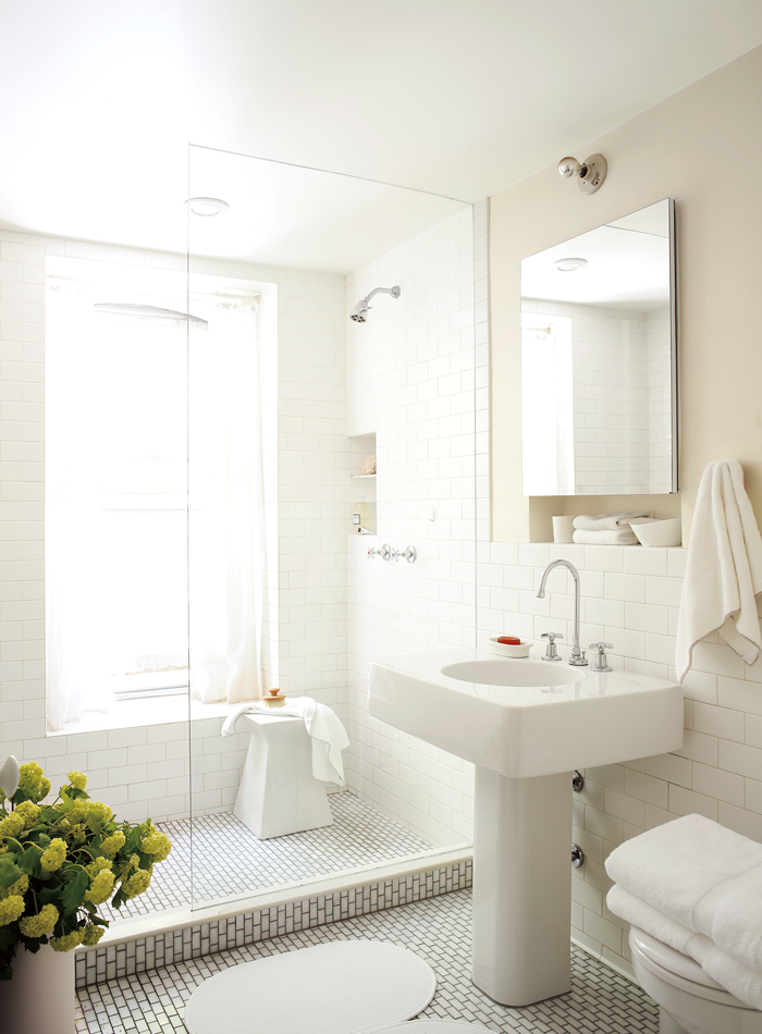"Benjamin Moore ""Ballet White"" shown in Aura Bath & Spa"