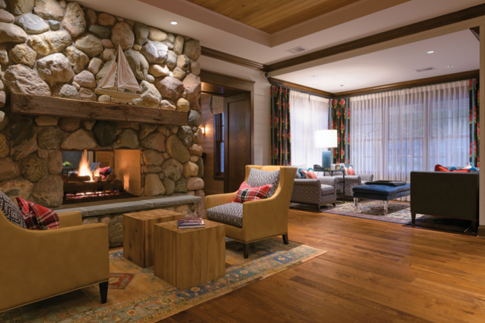 Hotel Walloon Fireplace and Lobby