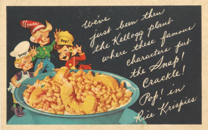 Kelloggs Vintage Snap Crackle Pop Rice Krispies