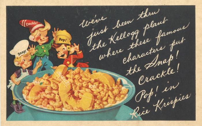 Kelloggs Vintage Snap Crackle Pop Rice Krispies