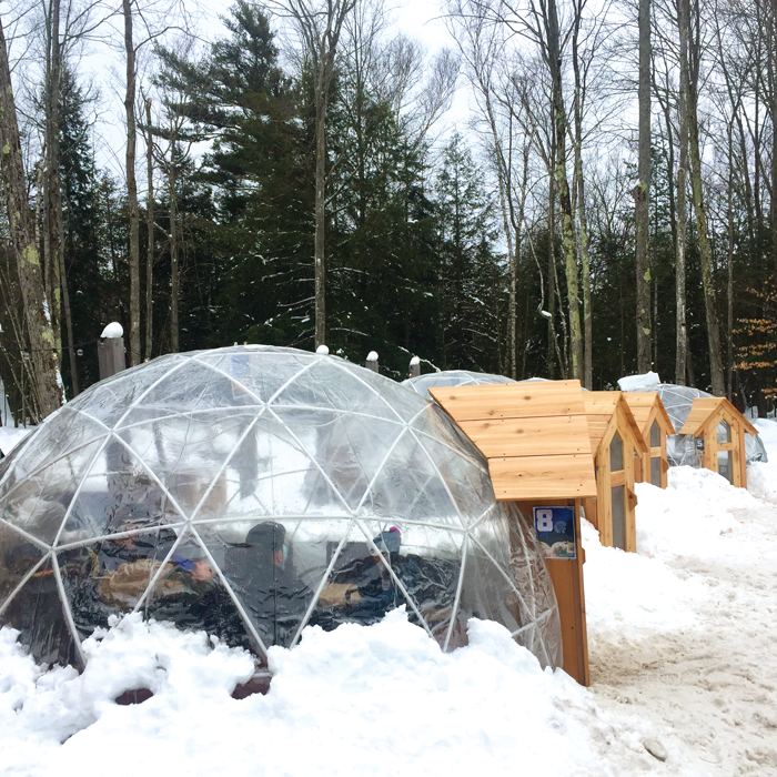 Heated igloos at Hop Lot Brewing allow people to enjoy imbibing outdoors even in the coldest of winters.