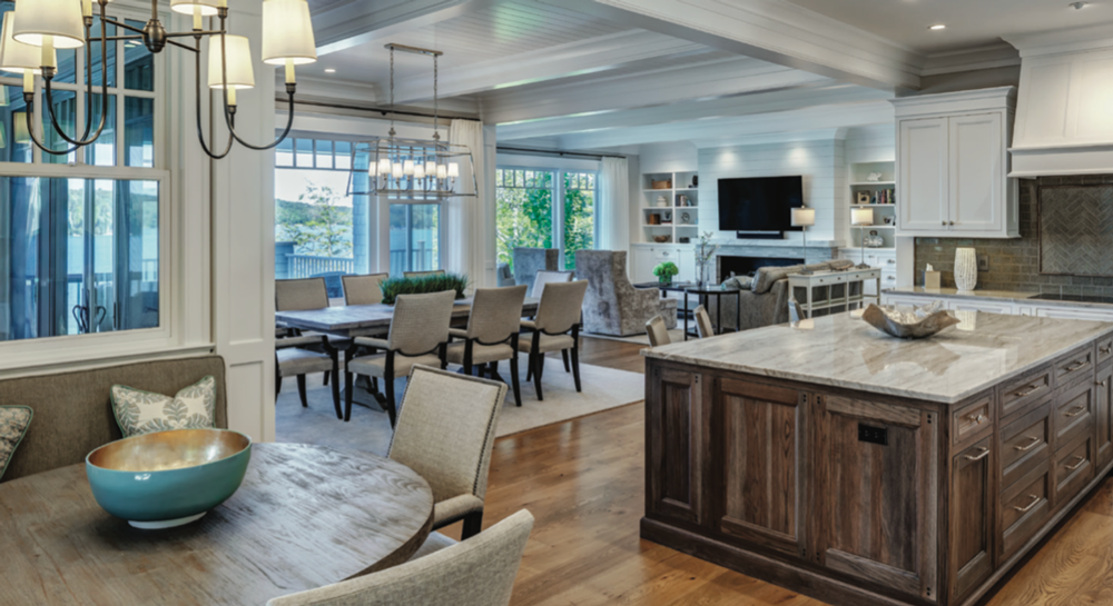 Great Lake Story 2019 Kitchen Island and Great Room