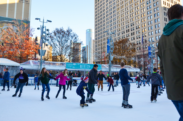 Ice Skating in Downtown Detroit