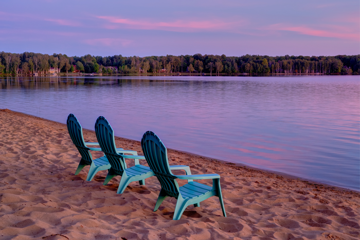 Michigan Beach in the Summer - photography courtesy Birch Lodge