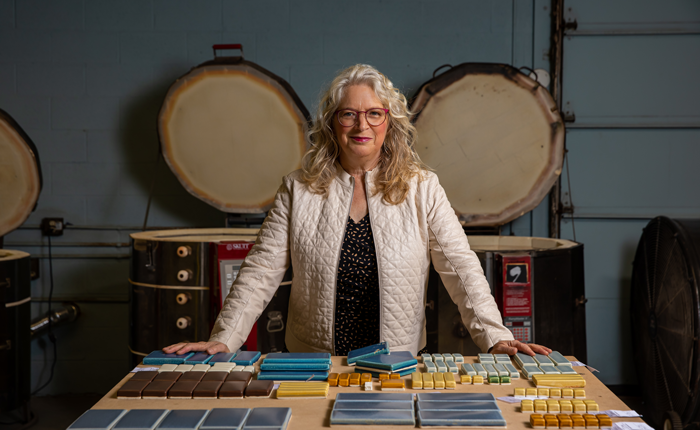 Nawal Motawi started making art tiles as a cottage business and built a highly successful art tile business with 40 employees and clients all over North America.