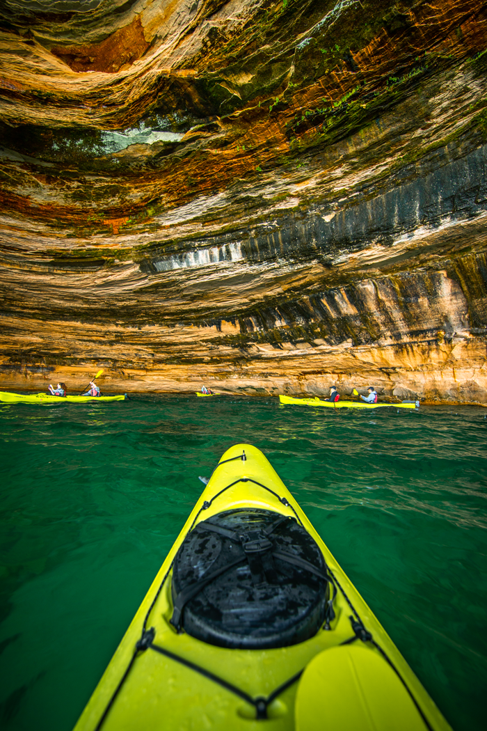 Photography courtesy Pictured Rocks Kayaking