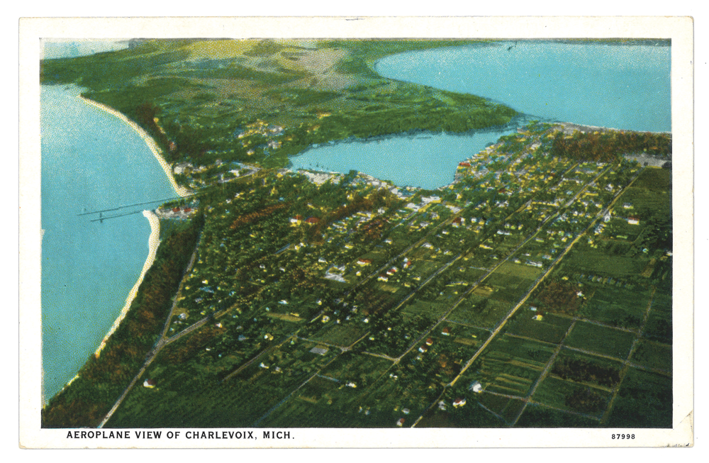 An early look at Charlevoix on Lake Michigan and Round Lake.