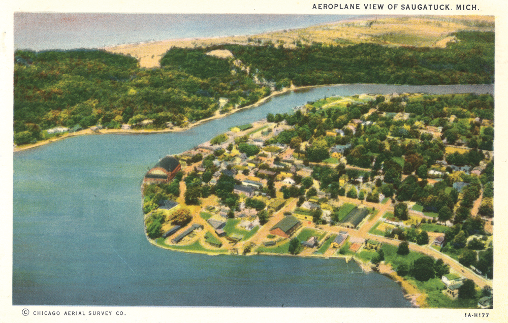 Those were exciting times. Aerial photography gave us new perspectives for destinations like Saugatuck and the Detroit business district.